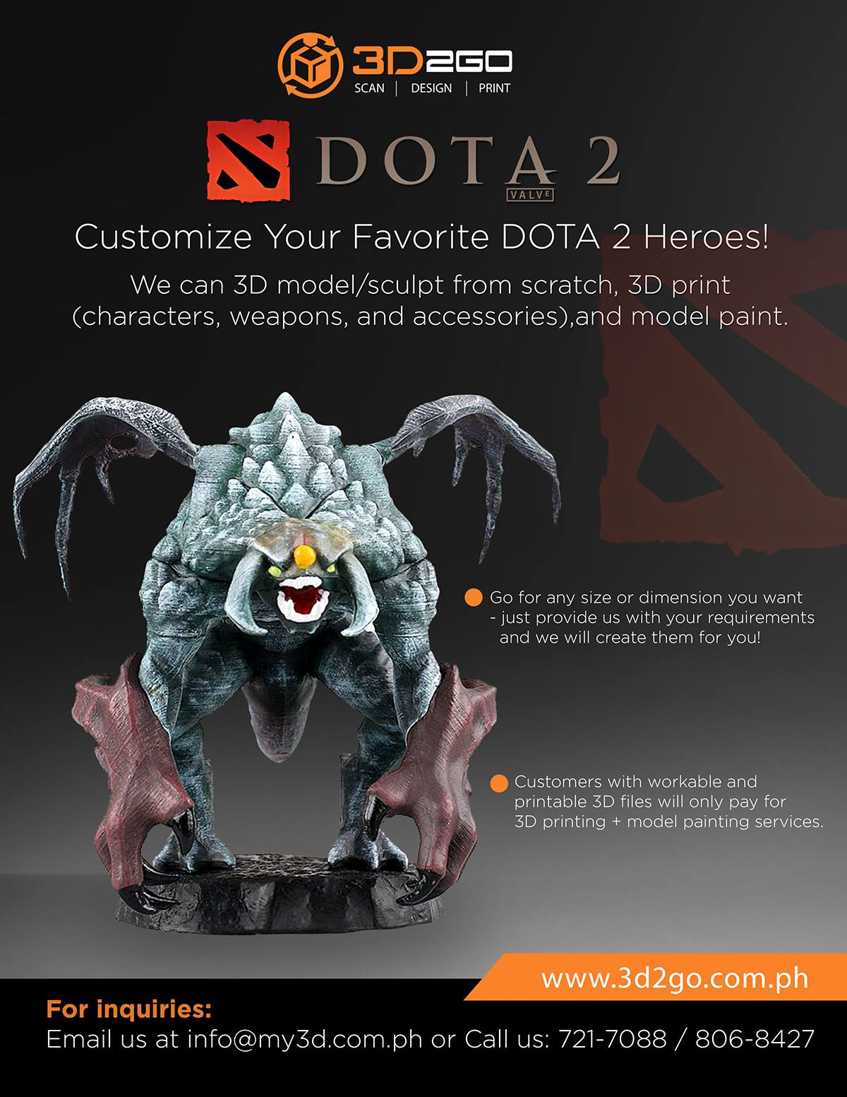 3D Printing: The Best Way to Bring DOTA 2 Action Heroes to Life