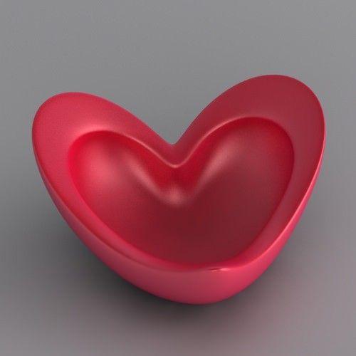3D printed heart bowl