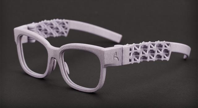 3D printed eyeglasses frame