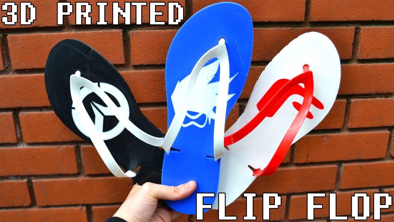 3D printed flip flop