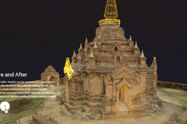 3D printed miniature Myanmar temple