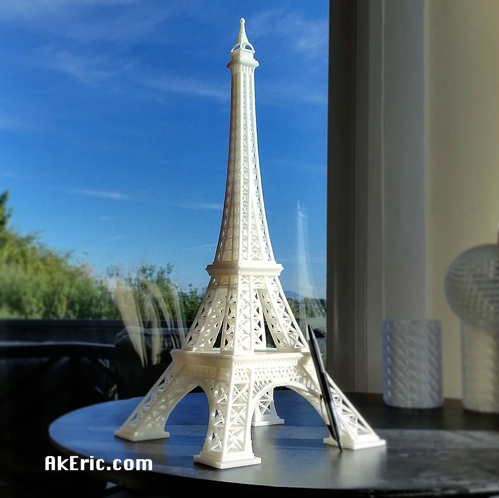 3D printed miniature Eiffel Tower