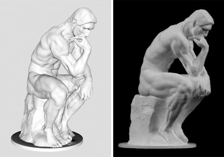3D printed the thinker