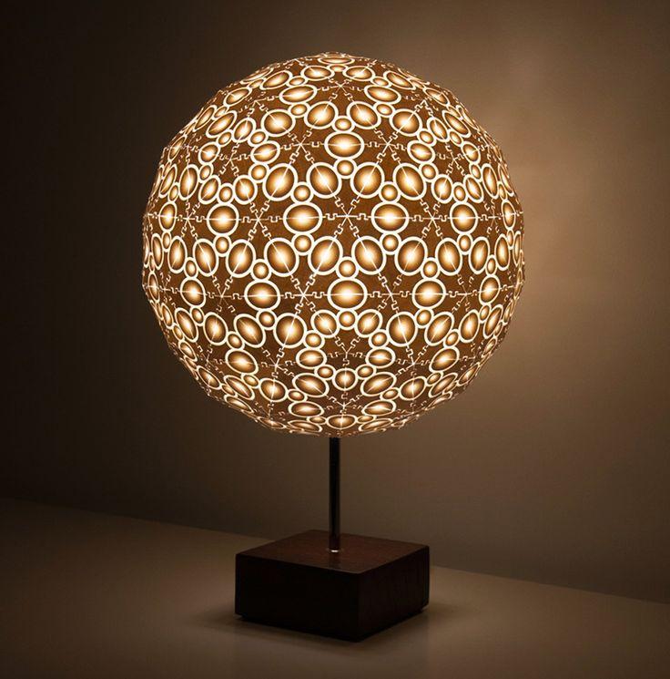 3D printed lace lamp