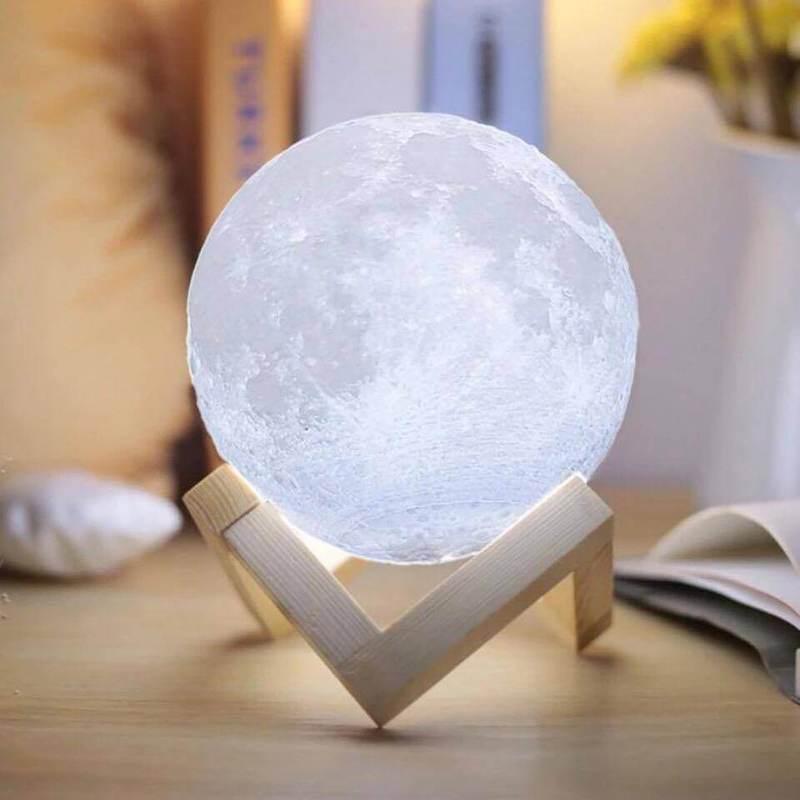 3D printed moon lamp