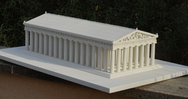 3D printed miniature Parthenon