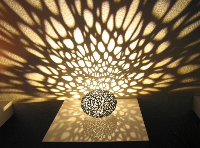 3D printed light lamp