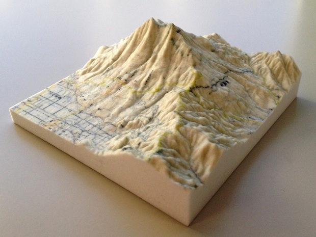 3D printed topography map