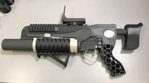 3D printed grenade launcher
