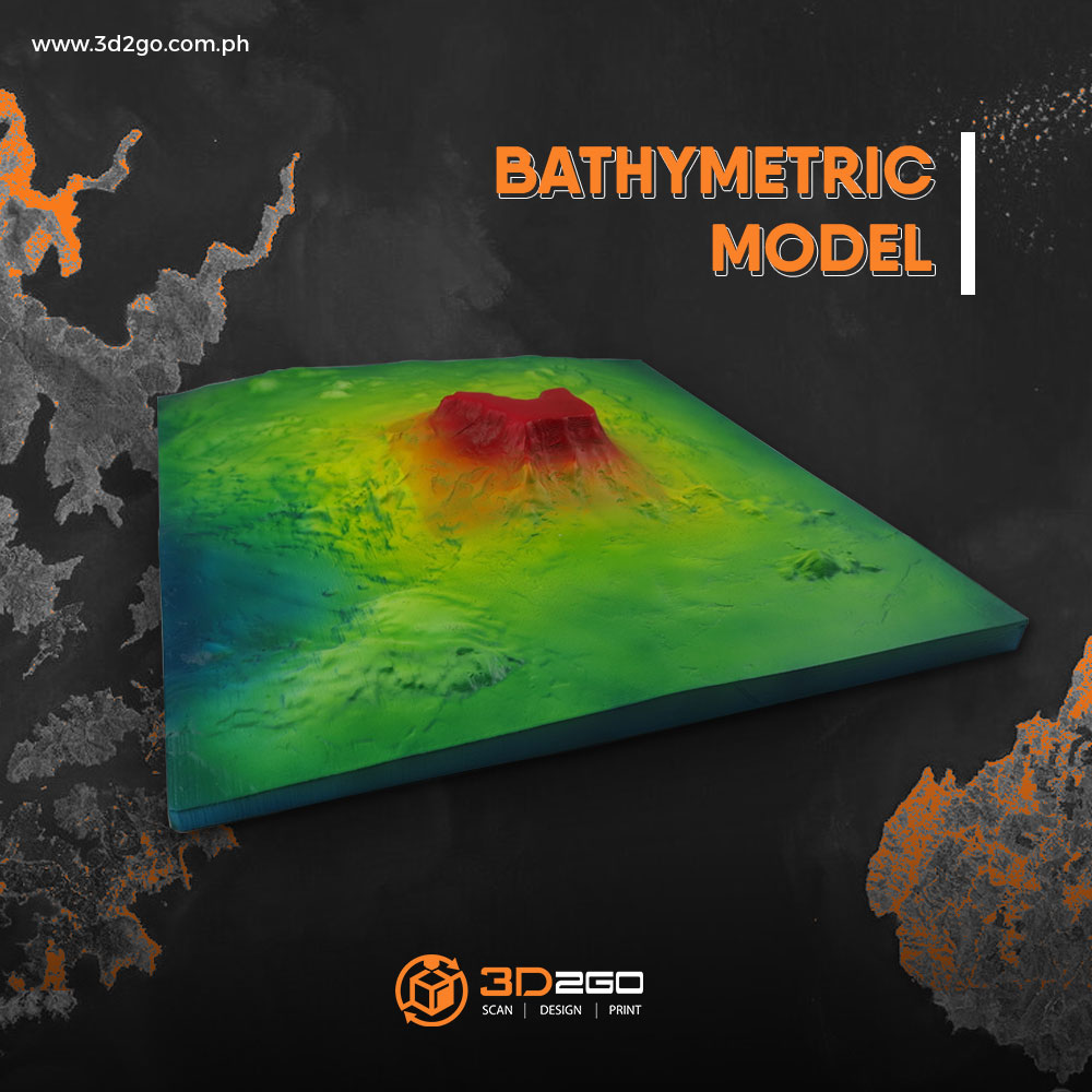 3D Printed Bathymetric model