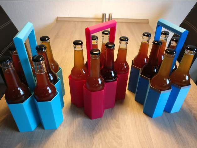 3D printed six-pack drink carrier