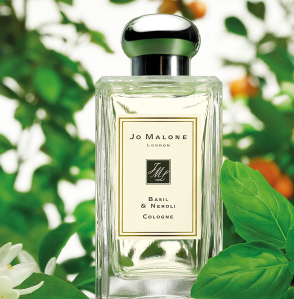 Valentine Gift Idea Jo Malone London Basil and Neroli Cologne