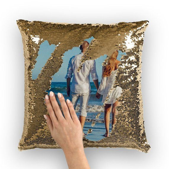 Valentine Gift Idea Reversible Sequins Pillow