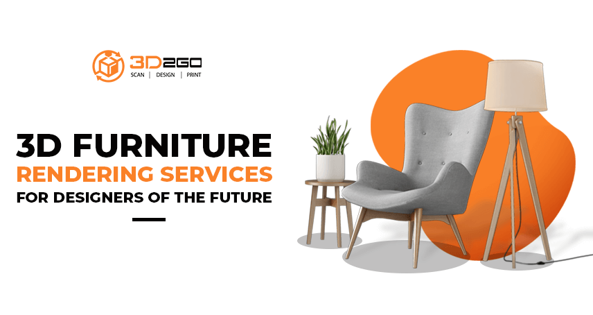 A blog banner by 3D2GO about 3D Furniture Rendering Services