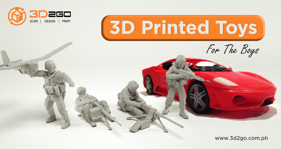 3D Printed Toys For The Boys
