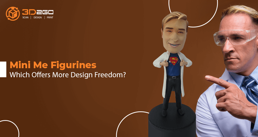 A blog banner by 3D2GO Philippines about Mini Me Figurines Which Offers More Design Freedom