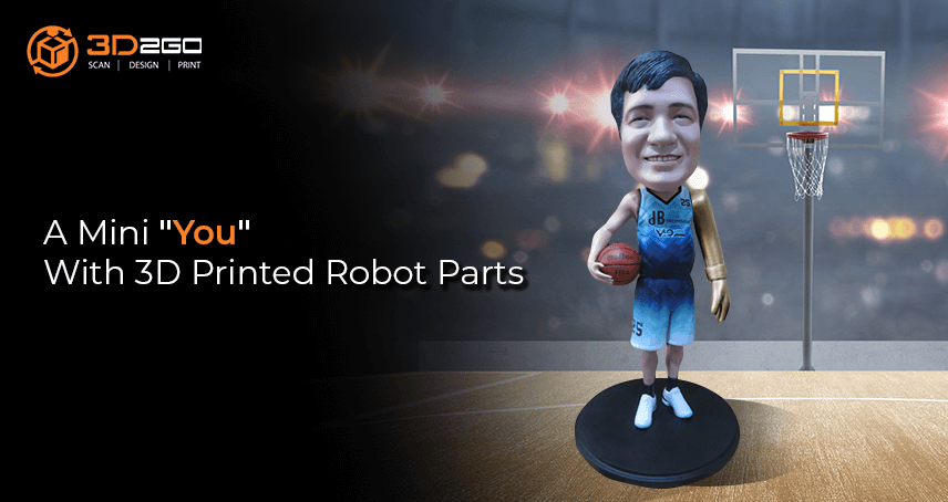 A Mini You With 3D Printed Robot Parts