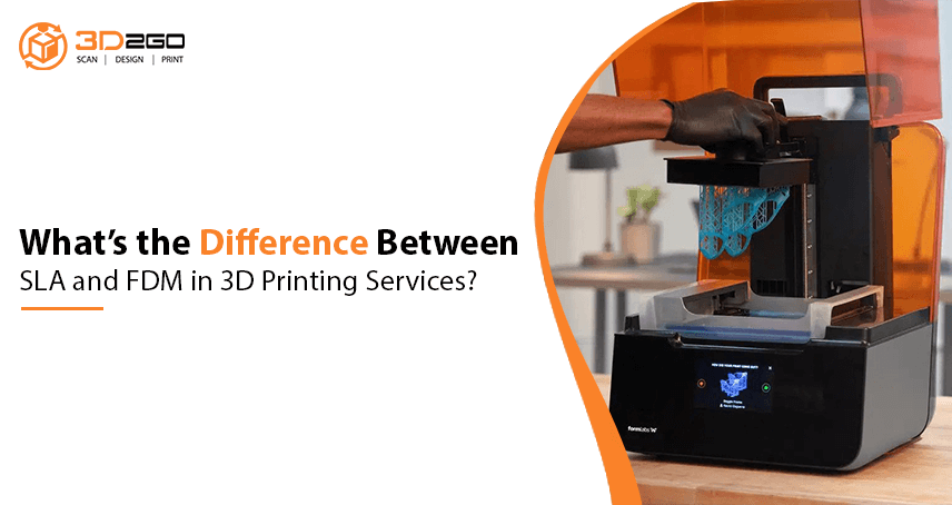 banner for What's the Difference Between SLA and FDM in 3D Printing Services?