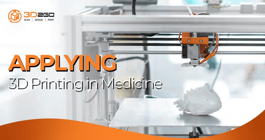 blog banner for Applying 3D Printing in Medicine