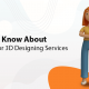 A blog banner by 3D2GO Philippines titled Things To Know About 3D Artists For 3D Designing Services