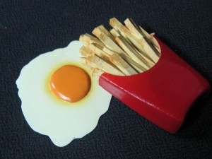 Fries and Egg
