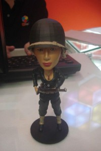 Custom Lady Soldier bobblehead