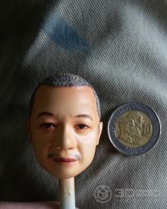 1:6 scale model head