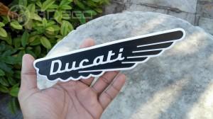 Ducati Scrambler's tank emblem wings