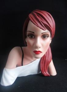 Customer miniature bust